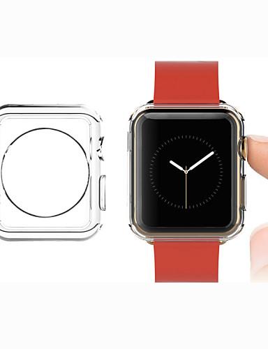 tpu transparent färgskyddande mjukt fodral för Apple Watch 3 Serie 2 1 Iwatch (42mm 38mm)