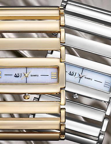 preiswerte ASJ®-ASJ Damen Uhr Luxus-Armbanduhren Armbanduhr Goldene Uhr Legierung Silber / Gold Transparentes Ziffernblatt Analog damas Armreif Silber Golden / Ein Jahr / Ein Jahr / SSUO SR626SW