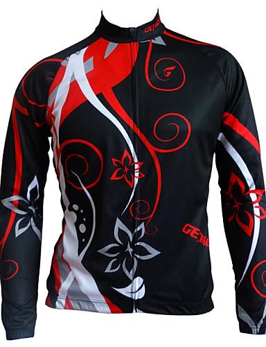povoljno Odjeća za vožnju biciklom-GETMOVING Muškarci Biciklistička jakna Bicikl Zima Flis jakne Majice Prozračnost Anatomski dizajn Povratak džep Sportski Crna + Gloden Brdski biciklizam biciklom na cesti Odjeća Relaxed Fit Odjeća za