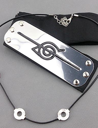 povoljno Anime cosplay-Jewelry Headpiece Inspirirana Naruto Itachi Uchiha Anime Cosplay Pribor Traka za kosu Muškarci Žene vruć Noć vještica