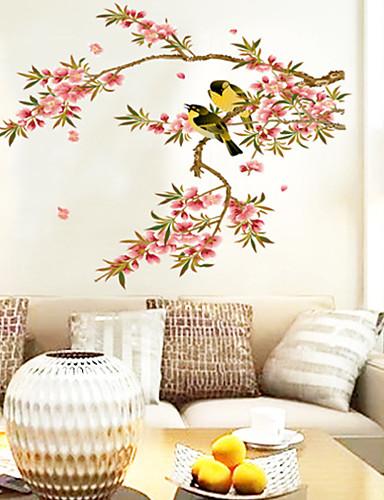 preiswerte Botanische Wandsticker-Tiere Blumen Cartoon Design Wand-Sticker Flugzeug-Wand Sticker Dekorative Wand Sticker, Vinyl Haus Dekoration Wandtattoo Wand