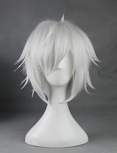 levne Cosplay paruky-Je to špatné snažit sebrat dívky v Dungeon Bell Cranel Cosplay Paruky Pánské Dámské 14 inch Horkuvzdorné vlákno Bílá Anime