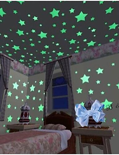preiswerte Schlafzimmer-Formen Wand-Sticker Leuchtende Wand Sticker Dekorative Wand Sticker, Vinyl Haus Dekoration Wandtattoo Wand