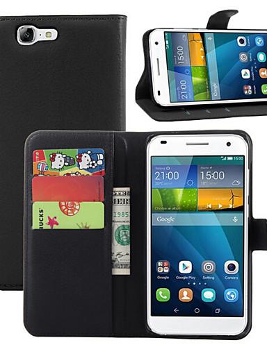 fodral Till huawei G7 / Huawei Huawei G7 / Huawei Plånbok / Korthållare / med stativ Fodral Enfärgad Hårt PU läder