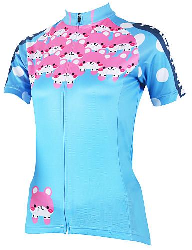povoljno Biciklističke majice-ILPALADINO Žene Kratkih rukava Biciklistička majica Plava Veći konfekcijski brojevi Bicikl Biciklistička majica Majice Brdski biciklizam biciklom na cesti Prozračnost Quick dry Ultraviolet Resistant