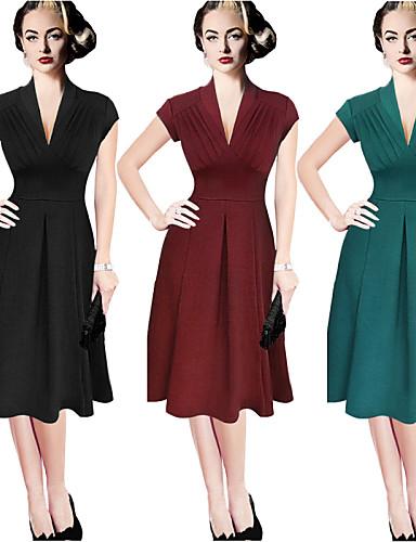 a37228ba5bbfa İş V-Yaka - Kısa Kol KADIN - Elbiseler ( Pamuk/Polyester ) 3764428 2019 –  $9.99