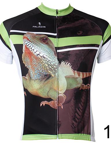 povoljno Odjeća za vožnju biciklom-ILPALADINO Muškarci Kratkih rukava Biciklistička majica 1 # # 2 # 3 Gušter Bicikl Biciklistička majica Majice Brdski biciklizam biciklom na cesti Prozračnost Quick dry Povratak džep Sportski