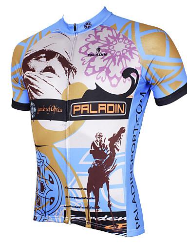 povoljno Odjeća za vožnju biciklom-ILPALADINO Muškarci Kratkih rukava Biciklistička majica Siva Bicikl Biciklistička majica Majice Brdski biciklizam biciklom na cesti Prozračnost Quick dry Ultraviolet Resistant Sportski Poliester 100