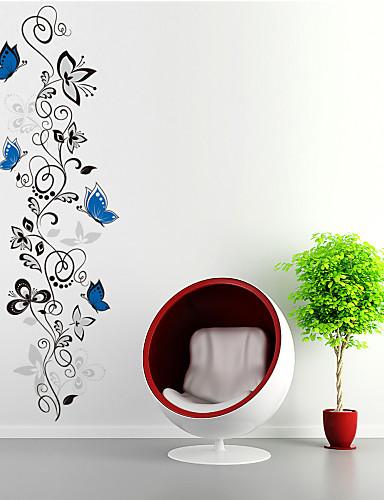 preiswerte Botanische Wandsticker-Tiere Formen Blumen Cartoon Design Wand-Sticker Flugzeug-Wand Sticker Dekorative Wand Sticker, PVC Haus Dekoration Wandtattoo Wand