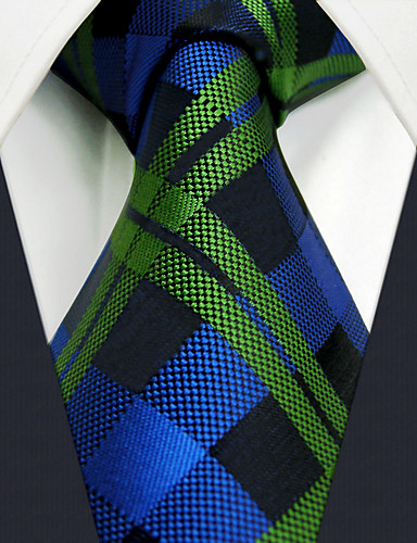 407807b307c U19 shlax amp krila kariranim plavo zelena Muška Kravata Svilene kravate  poslovni haljina 63