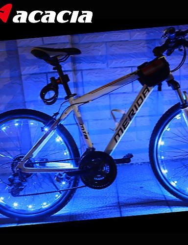 povoljno Biciklizam-LED Svjetla za bicikle kapica ventila treperi svjetla svjetla kotača - Brdski biciklizam Bicikl Biciklizam Vodootporno Prijenosno Promjenjive boje Upozorenje cell baterije 400 lm USB Baterija / IPX-4