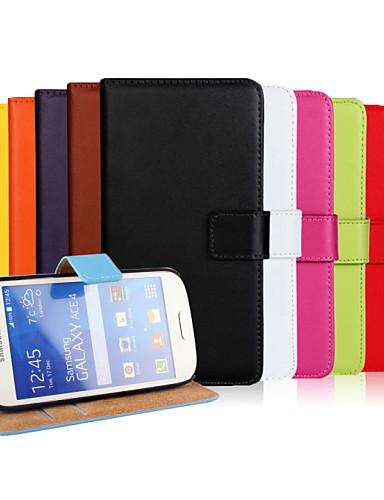 fodral Till Samsung Galaxy Ace Style LTE Plånbok / Korthållare / med stativ Fodral Enfärgad PU läder