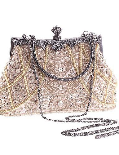 cheap 11.11 - Women's Bags Best Seller-Women's Imitation Pearl / Crystal / Rhinestone Polyester Evening Bag Rhinestone Crystal Evening Bags Geometric Champagne / Black / Gold