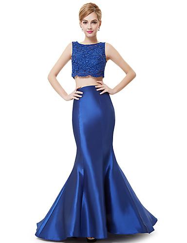 Вечернее платье в пол русалка