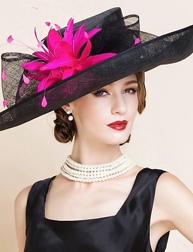 preiswerte Partyhut-Flachs Kentucky Derby-Hut / Hüte mit 1 Hochzeit / Besondere Anlässe Kopfschmuck