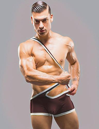 voordelige Herenondergoed & Zwemkleding-Kleurenblok - Super Sexy Boxer shorts Heren Lage Taille
