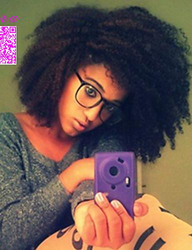 povoljno Perike s ljudskom kosom-Ljudska kosa Perika pune čipke bez ljepila Full Lace Perika stil Brazilska kosa afro Kinky Curly Perika 120% Gustoća kose s dječjom kosom Prirodna linija za kosu Afro-američka perika 100% rađeno rukom