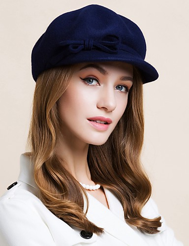 cheap Women's Accessories-Wool Kentucky Derby Hat / Hats with 1 Wedding / Special Occasion / Casual Headpiece
