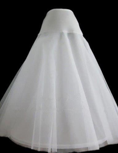 preiswerte Unterröcke für Hochzeitskleider-Hochzeit Party / Abend Unterhosen Nylon Tüll Wadenlänge A-Linie Klassisch & Zeitlos mit Gefärbt