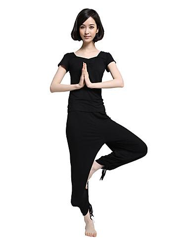 povoljno Odjeća za fitness, trčanje i jogu-Žene Nogavice s vezicama Yoga hlače s vrhom Moda Modal Zumba Trčanje Fitness Sportska odijela Kratkih rukava Odjeća za rekreaciju Lagani materijali Rastezljivo
