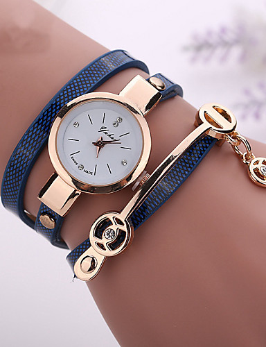 cheap Bracelet Watches-fashion new summer style leather casual bracelet watches wristwatch women dress watches relogios femininos watch - Green Blue Royal Blue One Year Battery Life