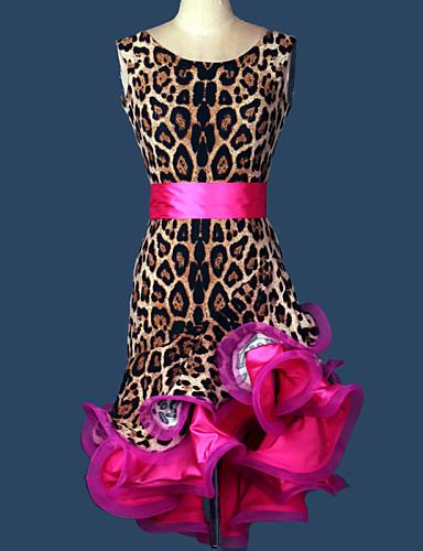 levne Shall We®-Latinské tance Úbory Dámské Trénink / Výkon Spandex Sklady Bez rukávů Šaty / Pásek / Samba