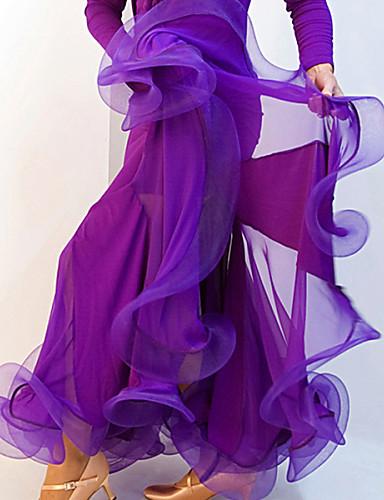 cheap Ballroom Dancewear-Ballroom Dance Skirt Ruched Women's Training Performance Spandex Crepe / Modern Dance / Samba