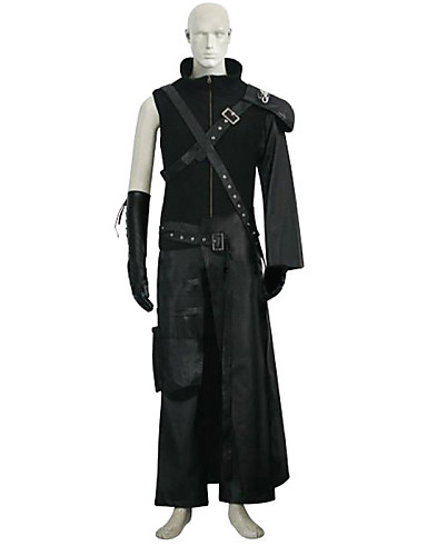 povoljno Maske i kostimi-Inspirirana Final Fantasy Cloud Strife Anime Cosplay nošnje Japanski Cosplay Suits Jednobojni Bez rukávů Hula-hopke / Onesie / Top / Hlače Za Uniseks