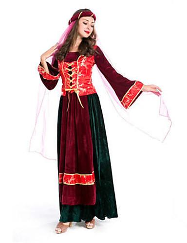 povoljno Maske i kostimi-Zentai odijela u boji Etnička i vjerska Cosplay Nošnje Druge uniforme Fuschia Halloween / Top / Šešir