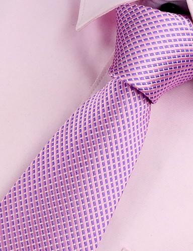 זול עניבות ועניבות פרפר לגברים-עניבת צווארון - אחיד מסיבה / עבודה / בסיסי בגדי ריקוד גברים