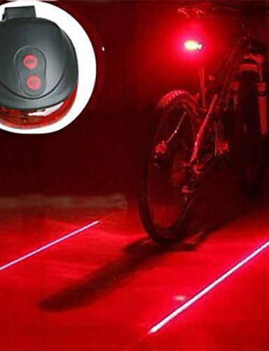 billige Sykling-Laser LED Sykkellykter Sykkellykter Lanterner & Telt Lamper Baklys til sykkel - Fjellsykling Sykkel Sykling Nedslags Resistent LED Lys Enkel å bære Advarsel AAA 400 lm Batteri Camping / Vandring