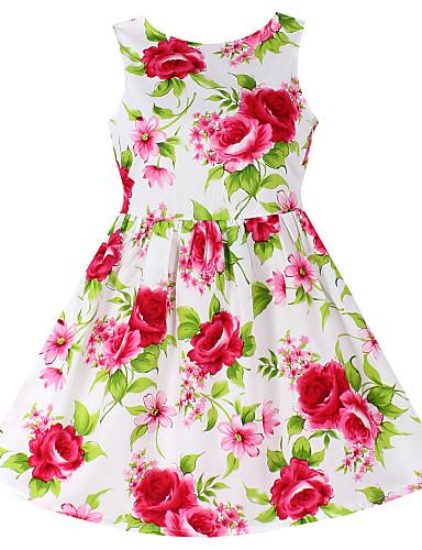 7ae8500b3d Pamut Virágos Tavasz Nyár Ujjatlan Lány Ruha Virágos Piros 4628928 2019 –  $13.96