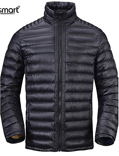 preiswerte Überbekleidung-Herrn Alltag / Sport / Formal Solide Übergrössen Standard Daunenjacke, Nylon Langarm Marinenblau / Armeegrün / Khaki / Arbeit