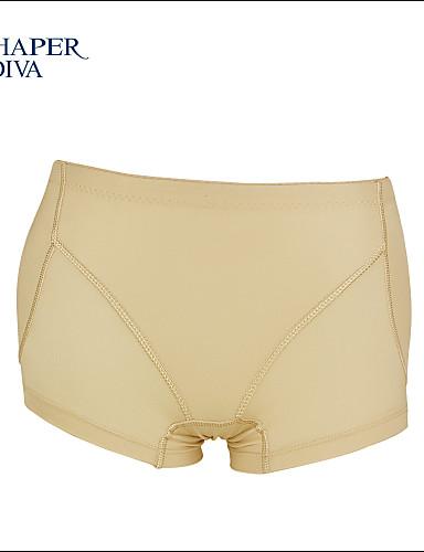 a37fedaa8 Shaperdiva Women s Black   Skin Mesh Padded Panties Buttock Enhancer  Silicone Body Shaper Panties 4595173 2019 –  11.99