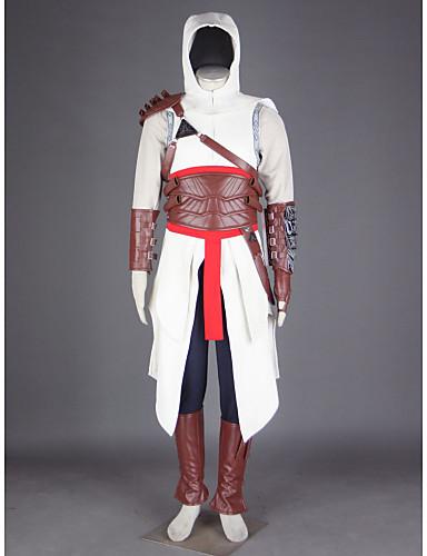 povoljno Maske i kostimi-Inspirirana Ubojica Altair Video igra Cosplay nošnje Cosplay Suits Kolaž Hlače Rukavice Pojas Kostimi / Plašt / T-majica / Šešir / Ramena Armor / Rukavicama