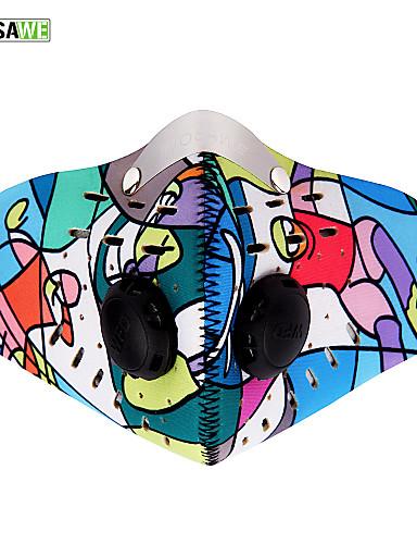 povoljno Odjeća za vožnju biciklom-Sportska maska Face Mask Muškarci Žene Camping & planinarenje Biciklizam / Bicikl Bicikl / Biciklizam Ugrijati Vjetronepropusnost Prašinu Zima Cvjetni / Botanički Bambus-karbonskih vlakana Neopren