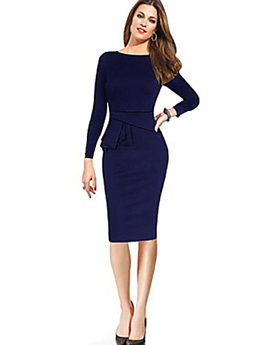 9bdc684bb9a6 Work Dress Summer Cotton Dark Blue Purple Fuchsia 3168432 2019 –  5.10