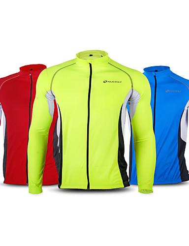 povoljno Biciklističke majice-Nuckily Muškarci Dugih rukava Biciklistička majica Zelen Crvena Plava Kolaž Veći konfekcijski brojevi Bicikl Biciklistička majica Majice Brdski biciklizam biciklom na cesti Vjetronepropusnost