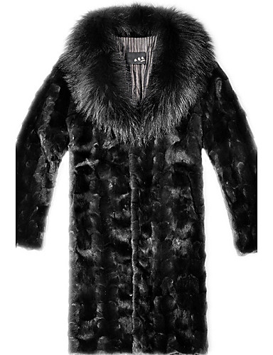 9fce135ea7 Men's Special Occasion / Plus Size / Daily Street chic / Punk & Gothic /  Tops Fur Coat 5393400 2019 – $106.69