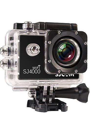 preiswerte Schlussverkaufsangebote im Rauswurf-SJCAM SJ4000 WIFI Action Kamera / Sport-Kamera GoPro Erholung im Freien Vlogging Wasserfest / WiFi 32 GB 8 mp / 5 mp / 3 mp 4X 1920 x 1080 Pixel 1.5 Zoll CMOS H.264 30 m ± 2 EV / Android Handys