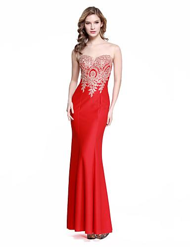 c13193912319 Vestito - Rosso Sera A sirena Con decorazione gioiello Lungo Satin elastico  del 4751870 2019 a  109.99
