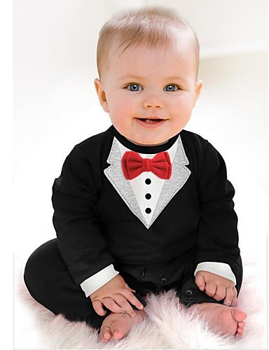 Baby Boys Dresswear Solid Colored Long Sleeve Cotton