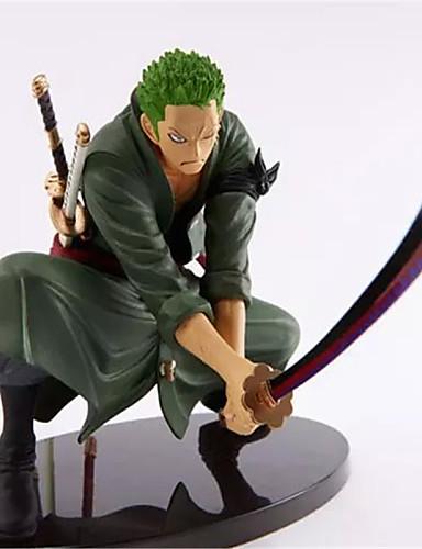 povoljno Anime cosplay-Anime Akcijske figure Inspirirana One Piece Roronoa Zoro 18 cm CM Model Igračke Doll igračkama Muškarci Dječaci Djevojčice