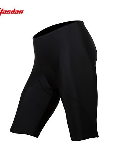 povoljno Biciklizam-TASDAN Muškarci Biciklističke kratke hlače s jastučićima Bicikl Kratke hlače Bib Shorts Donje rublje Shorts Prozračnost Pad 3D Quick dry Sportski Jedna barva Silicon Crn biciklom na cesti Odjeća
