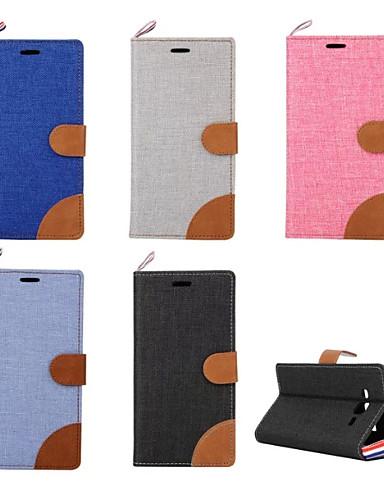fodral Till Samsung Galaxy On 7 / On 5 / Grand Prime Korthållare / med stativ / Lucka Fodral Enfärgad PU läder