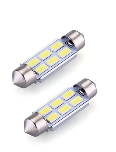 preiswerte FORHIM-2pcs 36mm Auto Leuchtbirnen 2 W SMD 5730 120 lm 6 LED Innenbeleuchtung Für
