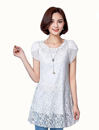 Γυναικεία T-shirt Καθημερινά Μεγάλα Μεγέθη Μονόχρωμο eaf336a9e9f
