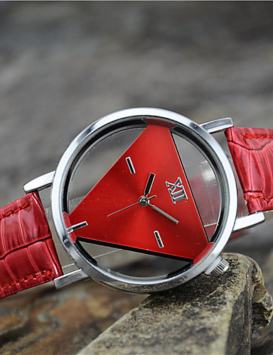 Dam damer Armbandsur Quartz Läder Svart / Vit / Blå Vardaglig klocka Ramtyp Berlock Mode - Röd Blå Rosa Ett år Batteriliv / Tianqiu 377