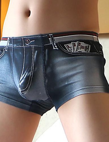 voordelige Herenondergoed & Zwemkleding-Print Super Sexy Boxer shorts Heren 1 Stuk