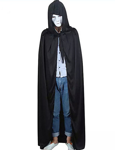 povoljno Maske i kostimi-Grim Reaper Plašt Odrasli Muškarci Halloween Božić Halloween Karneval Festival / Praznik Flis Crn Karneval kostime Kolaž